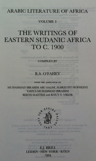 Arabic Literature of Africa